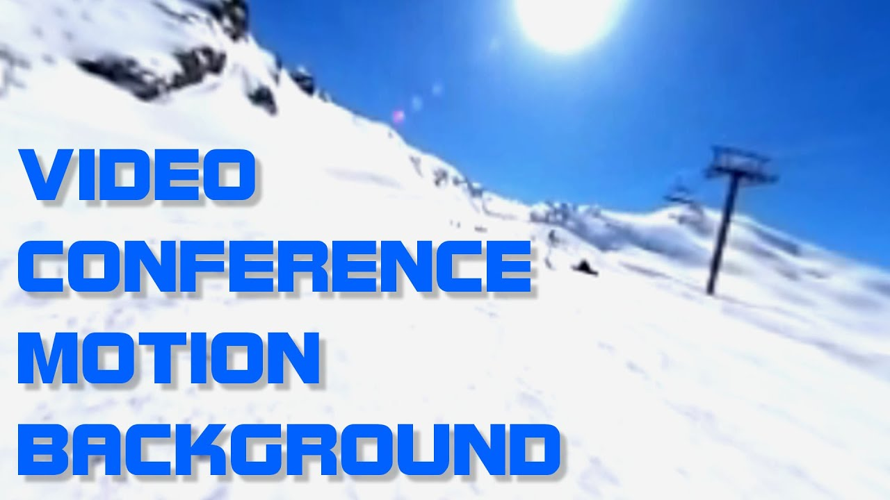 Ski and lift video conferencing background 1280x720
