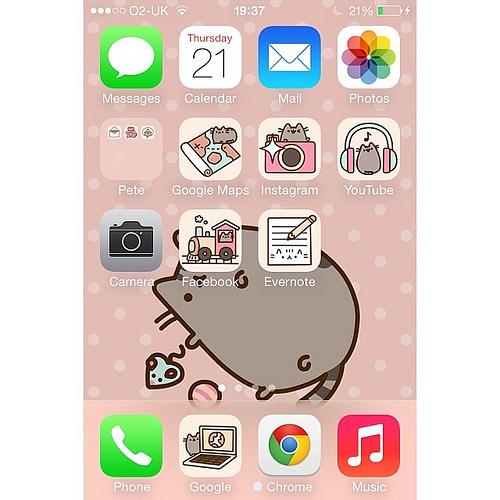 Pusheen Ipad Wallpaper Pusheen Iphone 4 Wallpaper Pusheen Iphone 5 500x500