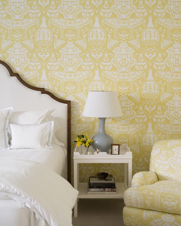 Clarence House The Vase Wallpaper   Transitional   Girls Room   J K 592x740
