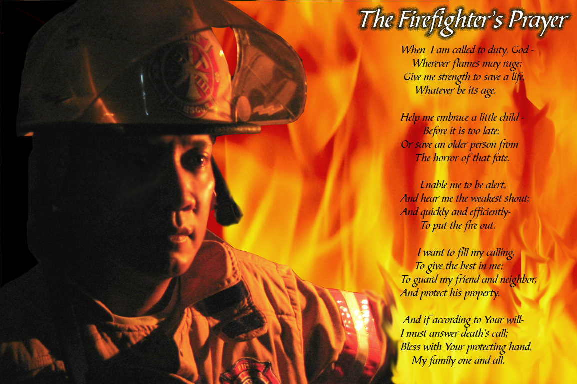 Woof HD Firefighter Wallpaper Prayer Quotes   mario brosscom 1154x768