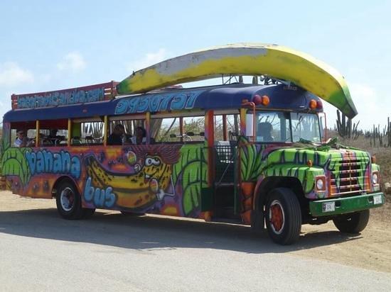 this bus screams FUN   Picture of Banana Bus Palm   Eagle Beach 550x412