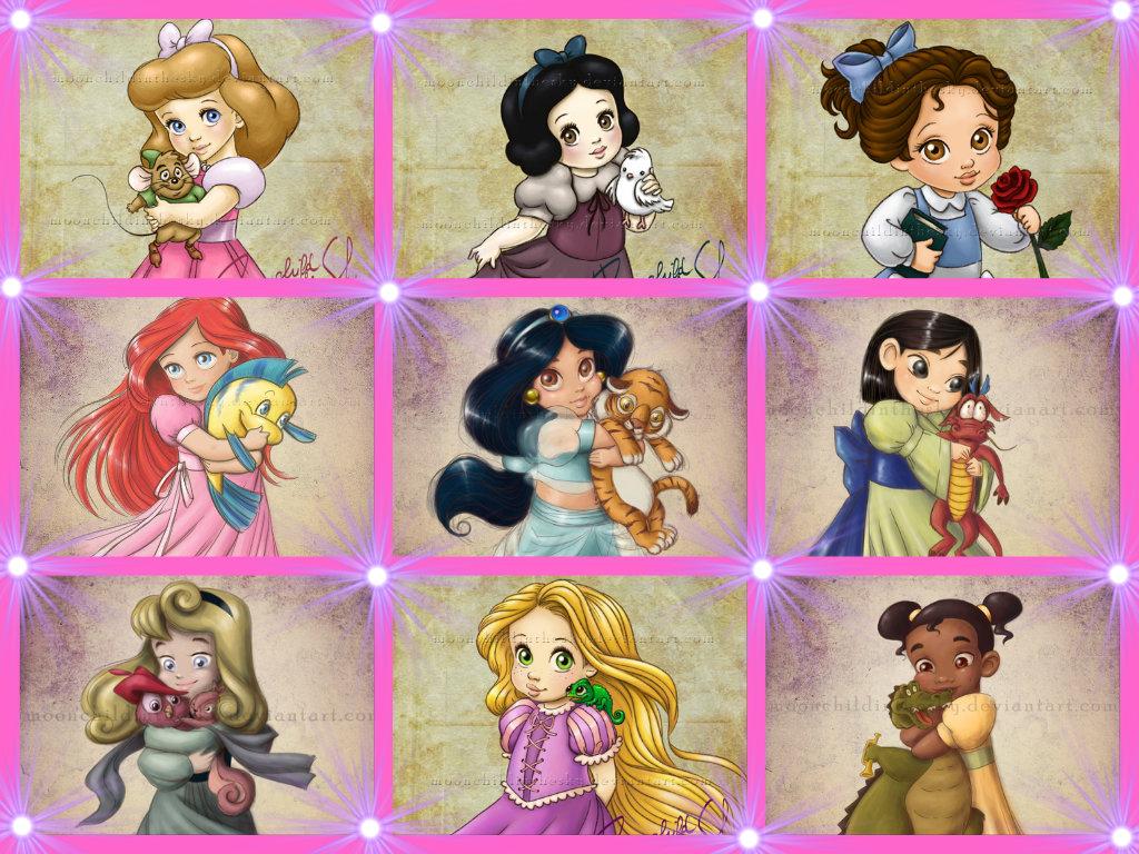 baby princess   Disney Princess Fan Art 35008515 1024x768