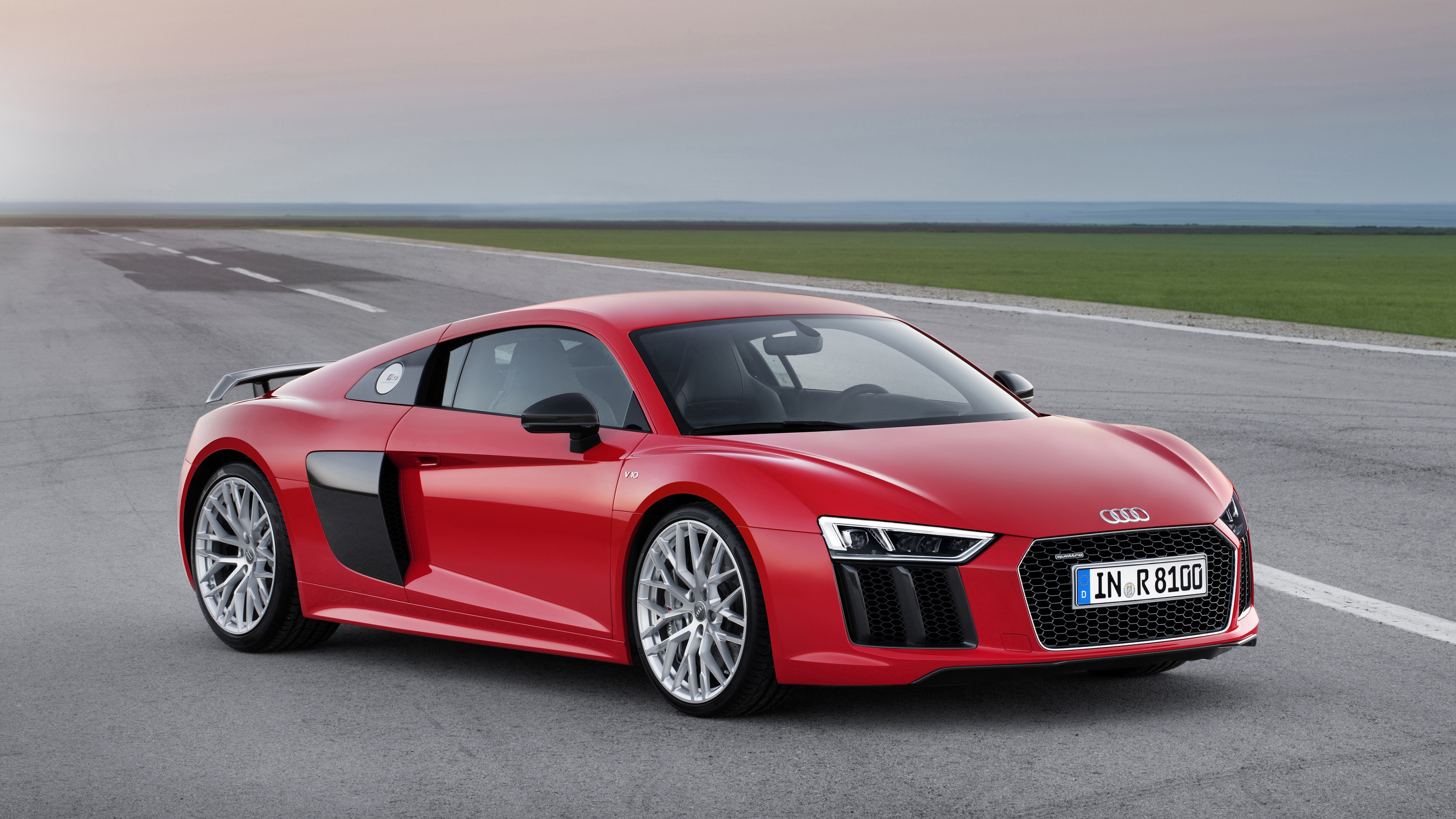 Download Wallpaper 3840x2160 Audi R8 V10 Red 2015 4K Ultra HD HD 3840x2160