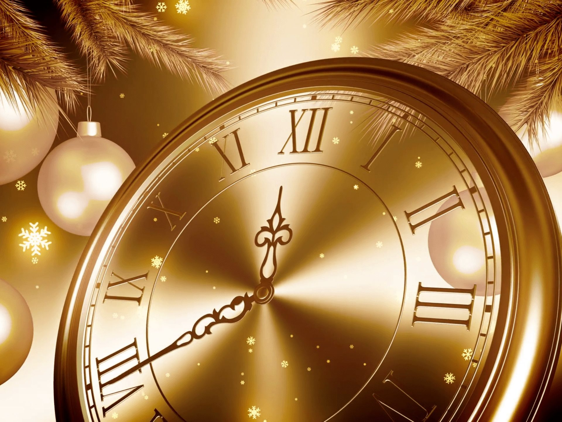 Happy New Year 2020 Golden Clock Countdown In New Years Eve 1920x1440