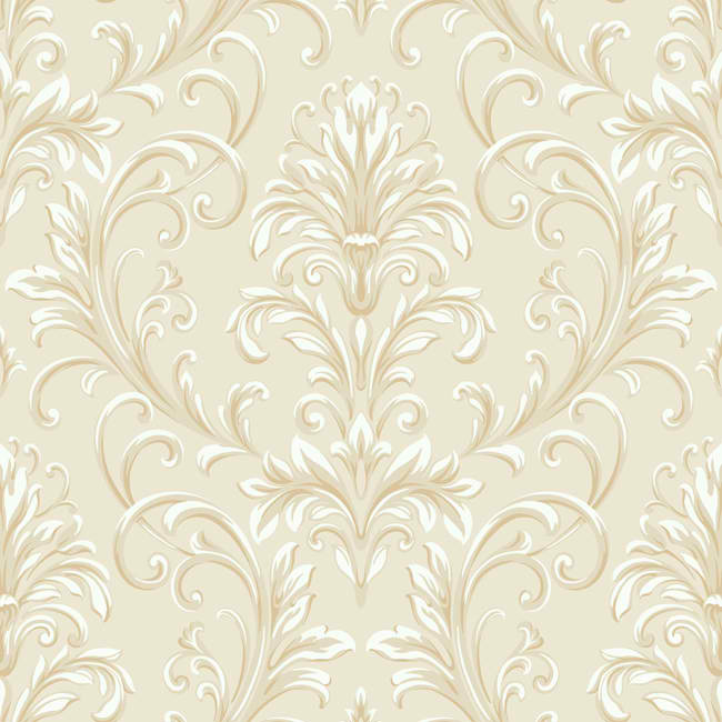 Cream Beige HD6954 Feathered Damask Wallpaper   Textures 650x650
