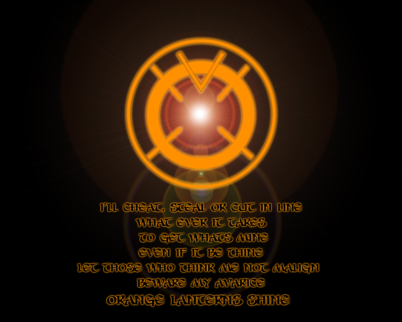 download Orange Lantern Corps Wallpaper 7 1280 X 1024 1280x1024