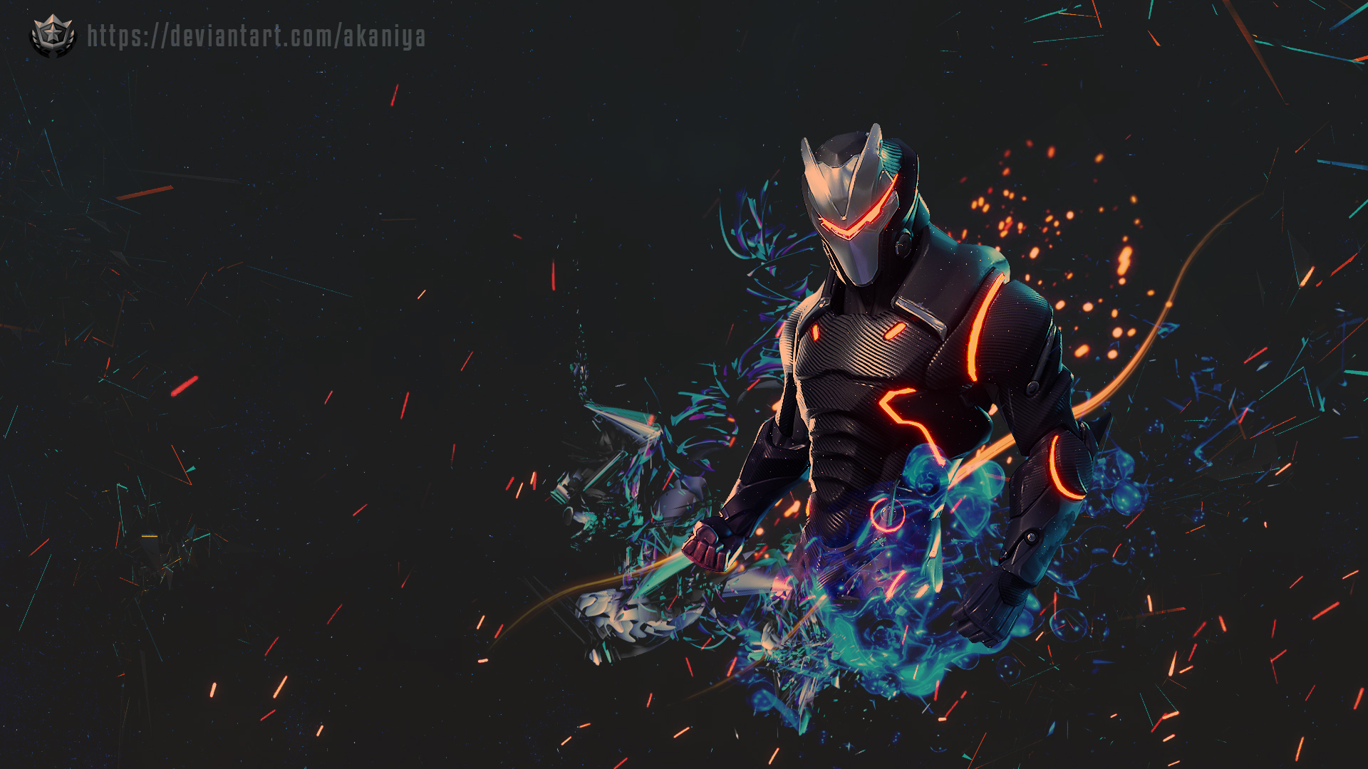 Coolest Fortnite Omega Skin Wallpaper by Akaniya 4261 Wallpapers 1920x1080