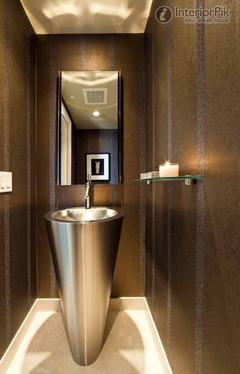 Brown bathroom wallpaper picture Modern bathroom modern bathroom 489x760