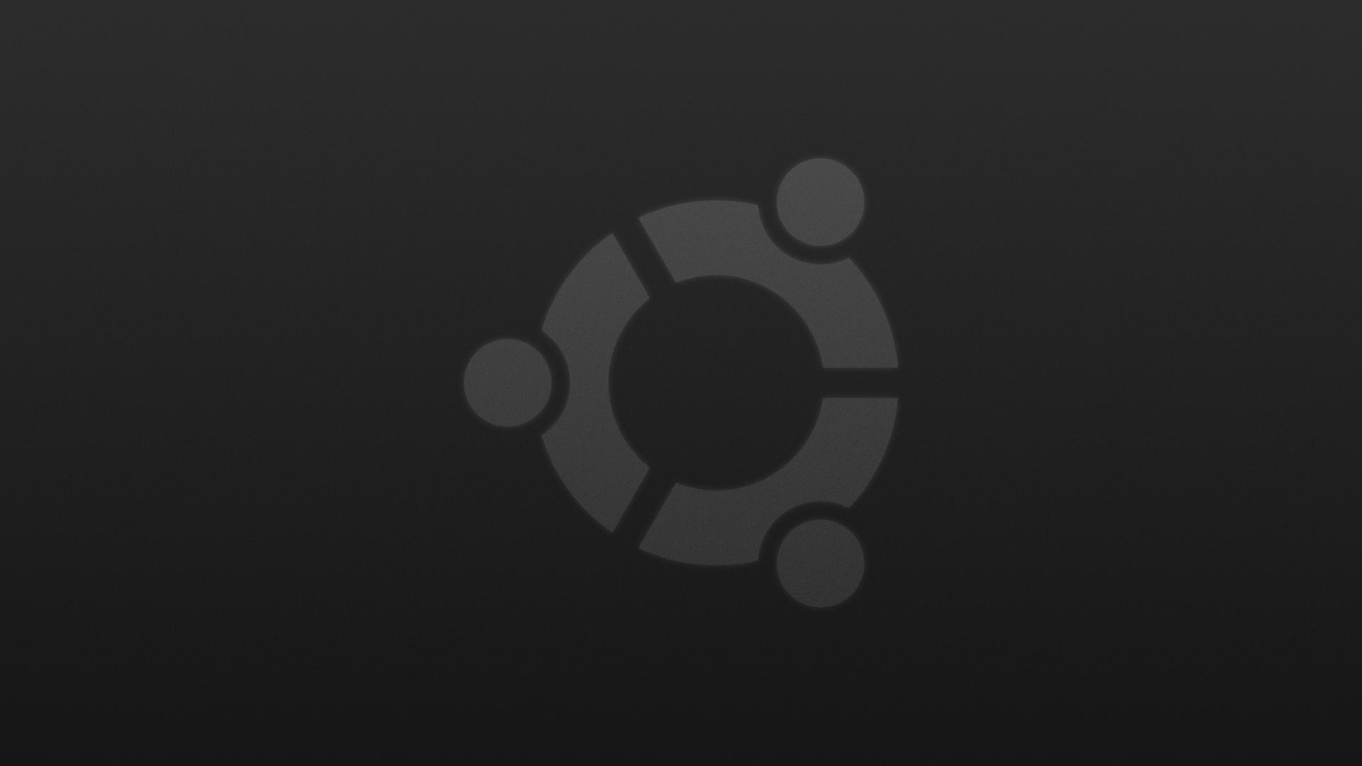 Ubuntu Dark Simple Wallpaper by DefectiveDre 1920x1080