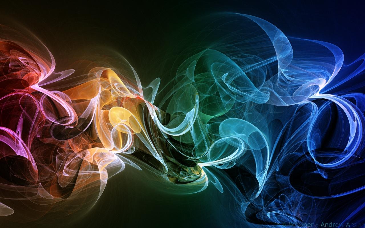 3D Smoke Wallpaper 1280x800