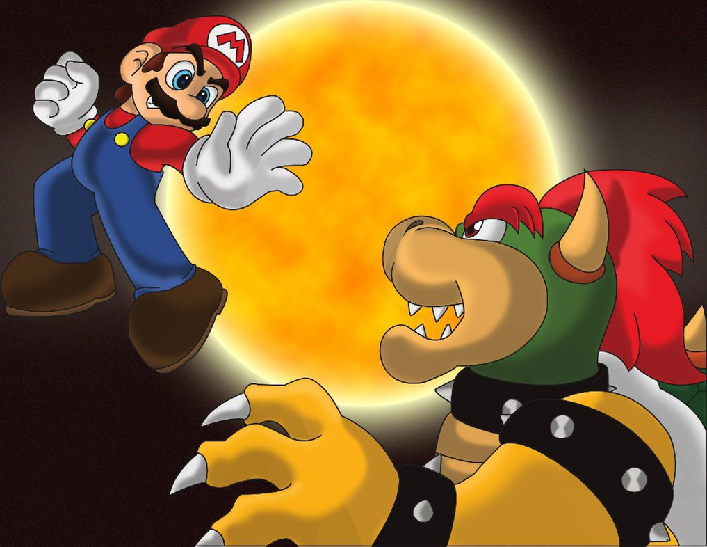 Image result for Mario vs Bowser