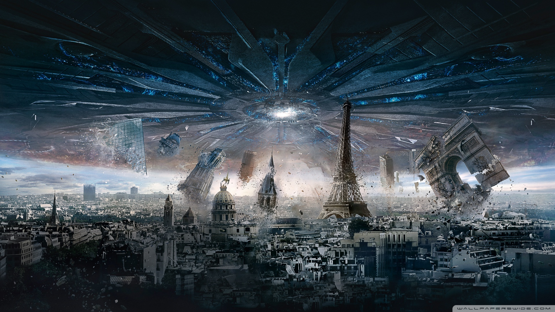 Independence Day Resurgence Paris 4K HD Desktop Wallpaper for 1920x1080