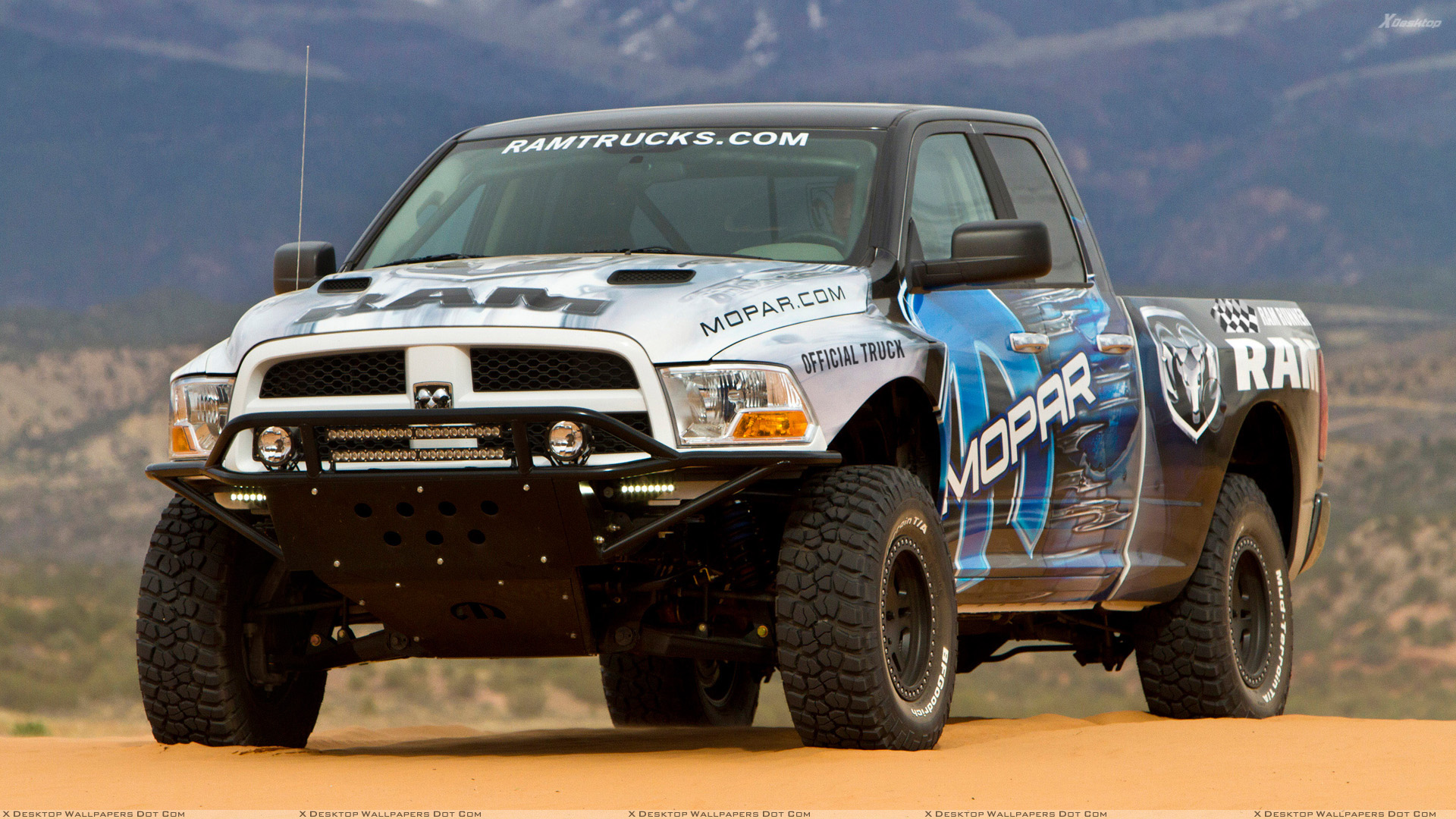 2011 Dodge Ram Runner Mopar Front Pose Wallpaper 1920x1080