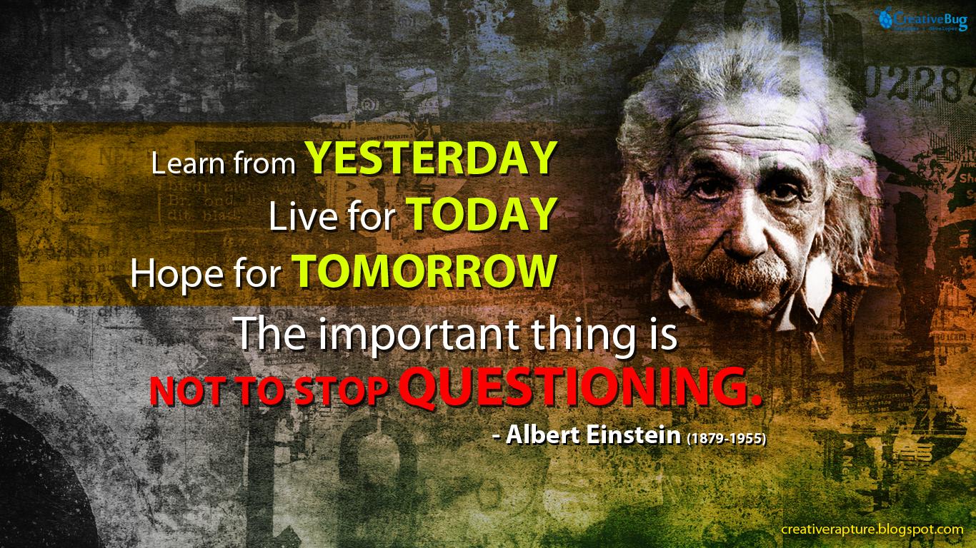 Albert Einstein Quote Wallpaper 1366 x 768 HD Quality CreativeBug 1366x768