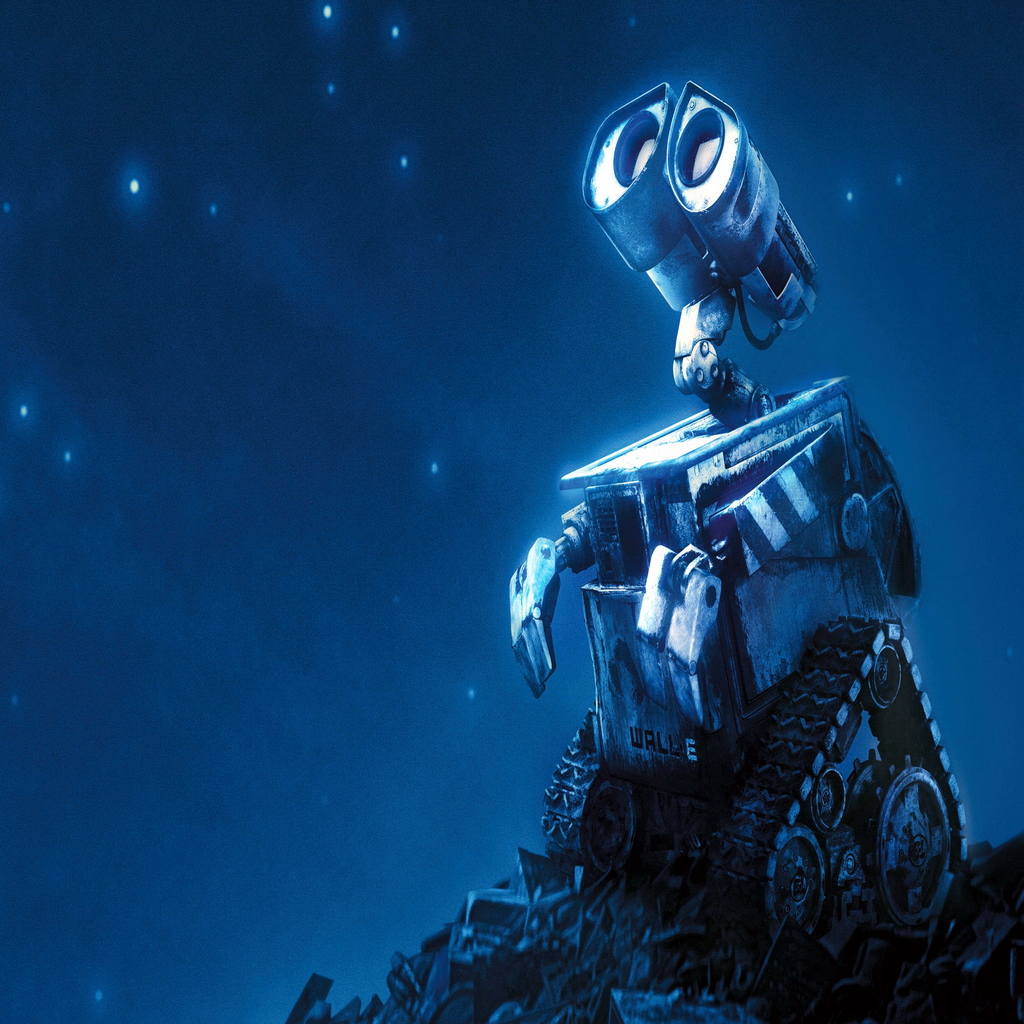 wall e robot movie 3d anime iPad Wallpaper Anime iPad Mini Background 1024x1024