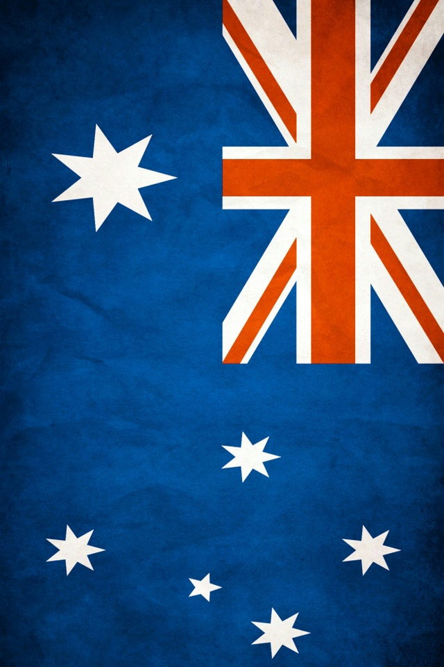 Australia Flag iPhone 4 Wallpaper and iPhone 4S Wallpaper 640x960