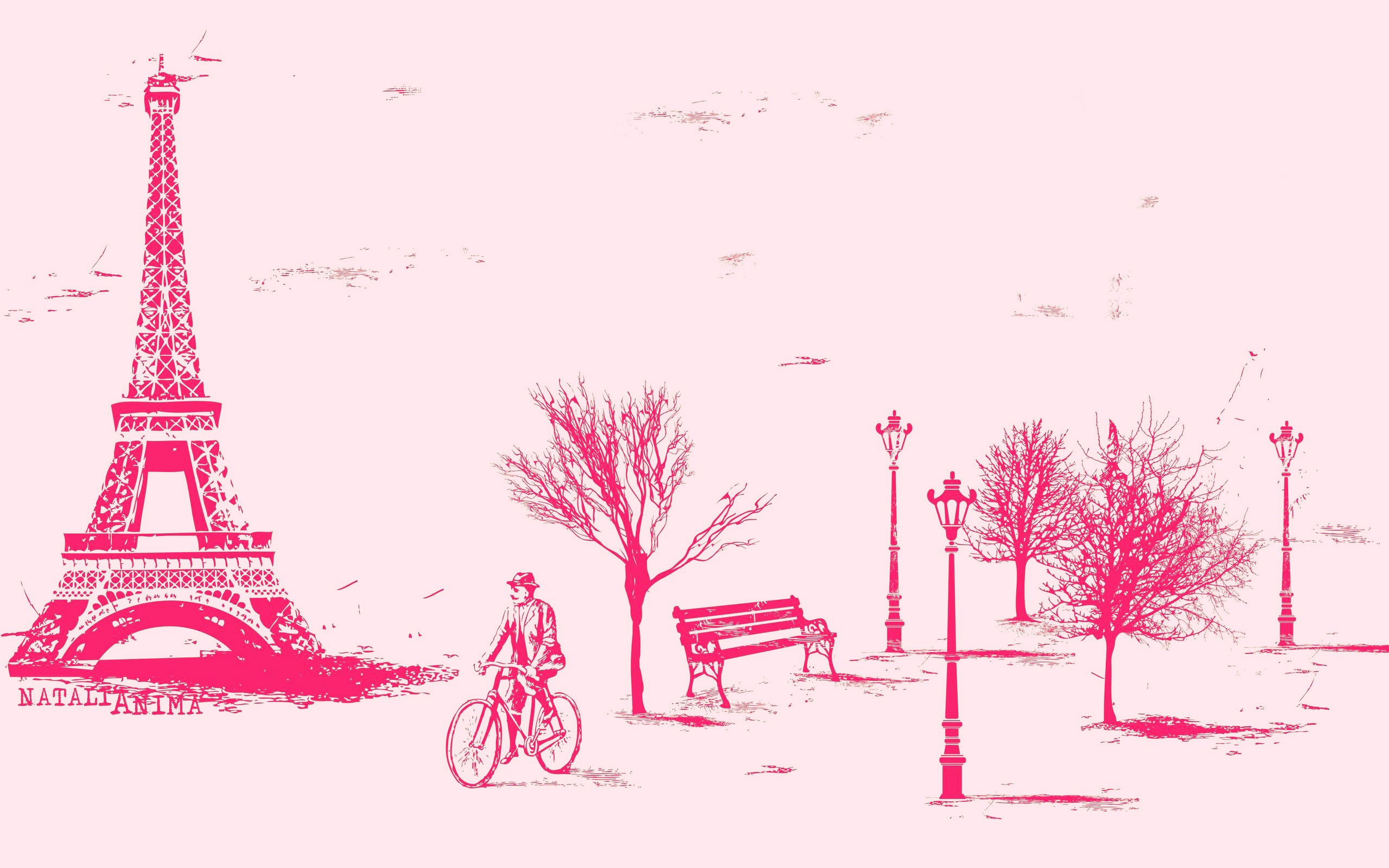 Paris in Pink Wallpaper - WallpaperSafari