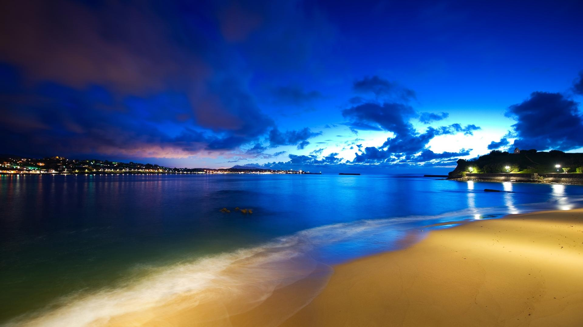 Beach Wallpapers at Night HD Wallpaper of Beach 1920x1080