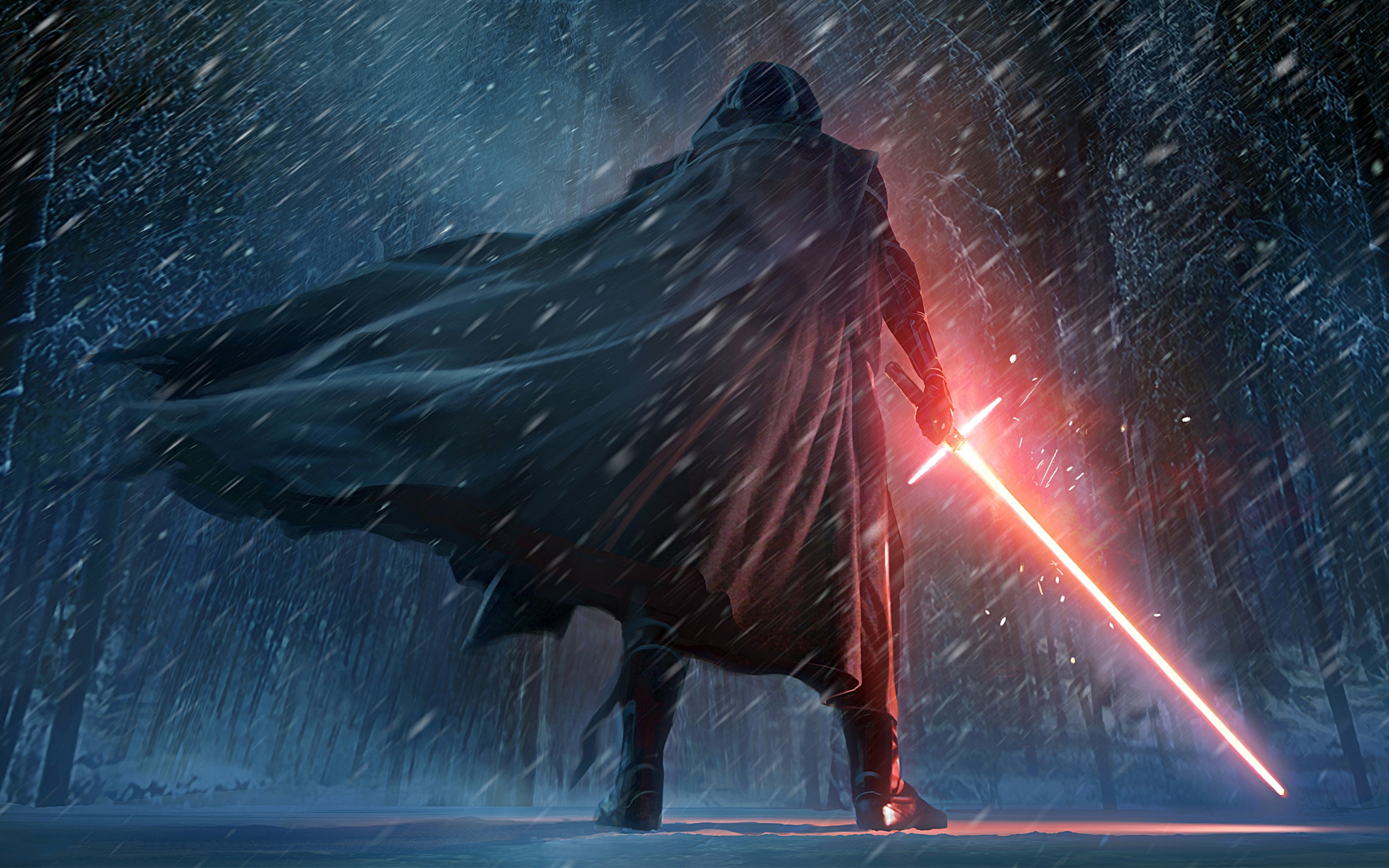 Kylo Ren Star Wars The Force Awakens Artwork 2880x1800