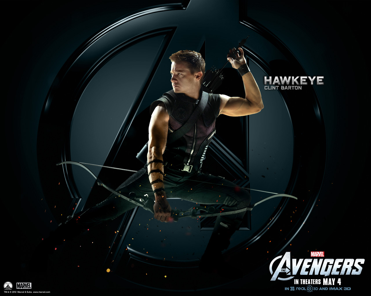 The Avengers images Hawkeye HD wallpaper and background photos 1280x1024