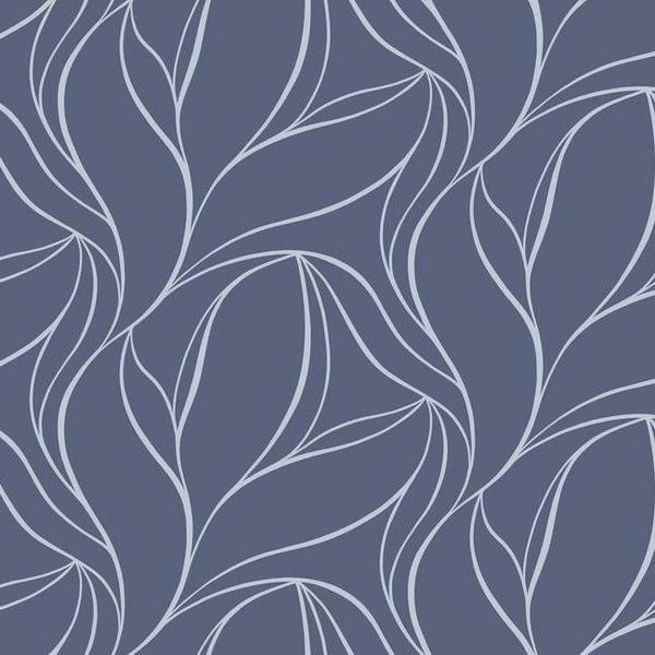 Aubrey Wallpaper in Blue by Ronald Redding for York Wallcoverings 600x600