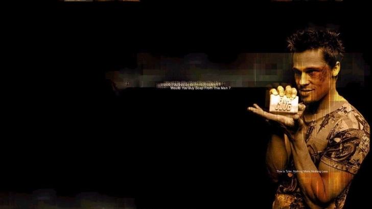 fight club brad pitt tyler durden soup 1600x900 wallpaper Movie Fight 728x409