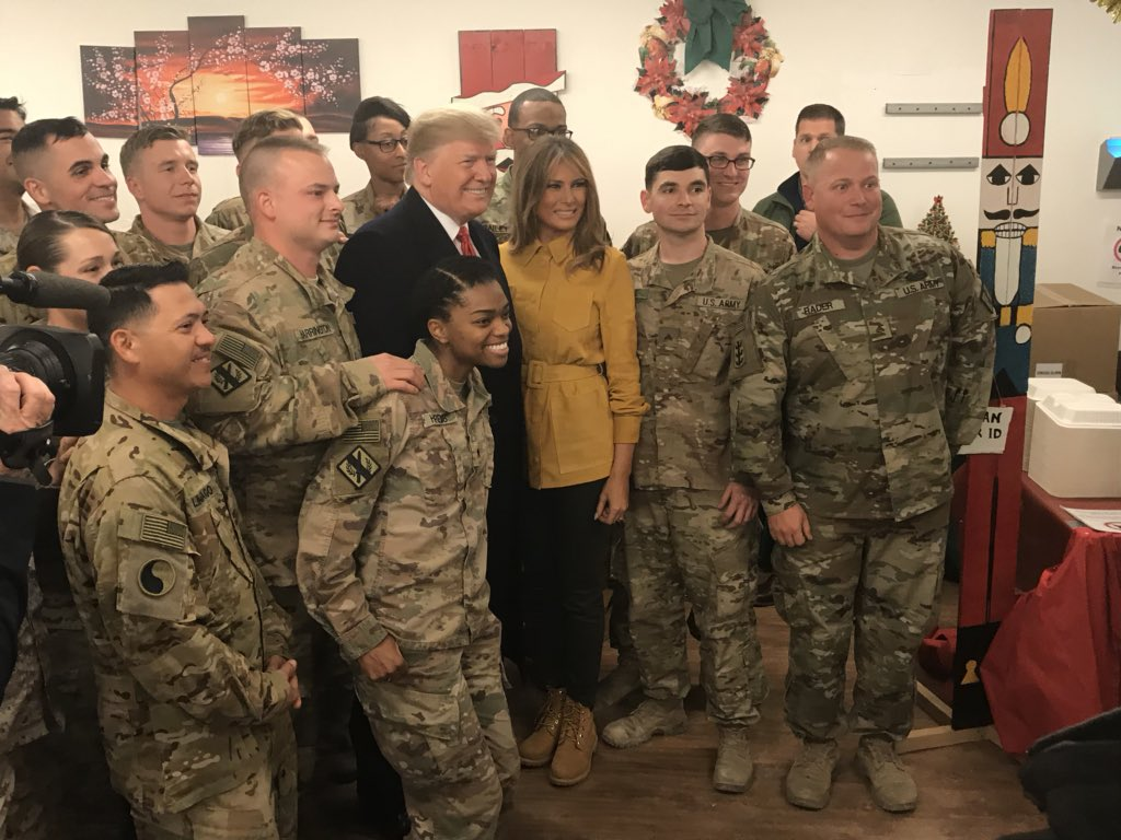 Trump makes surprise trip to Iraq his first combat zone visit 1024x768