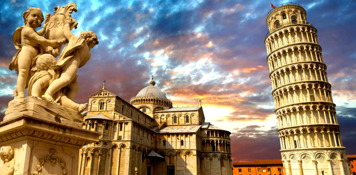 Tower Pisa Place Wallpaper Wallpapers Nature 1365x672