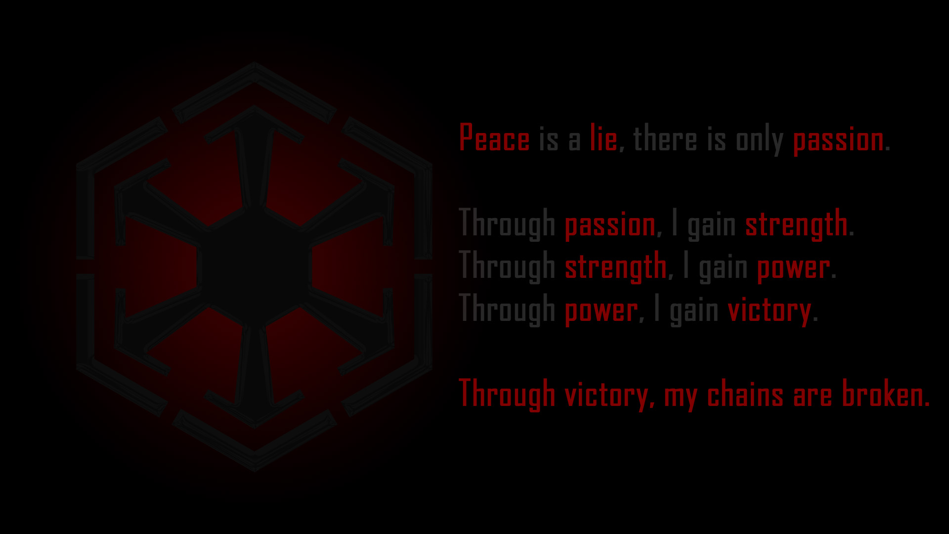 Star Wars Sith Code Wallpaper 3 298?300 | The Art Mad