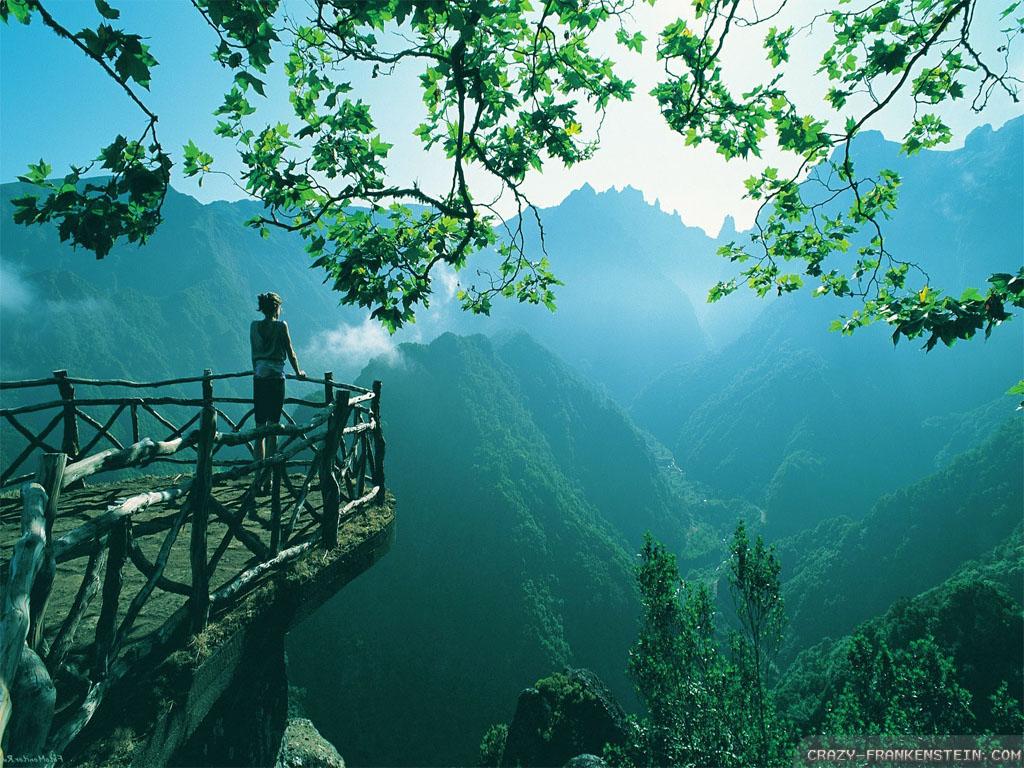 mystical mountain overlook best nature wallpapers   Wallpaper Aholic 1024x768
