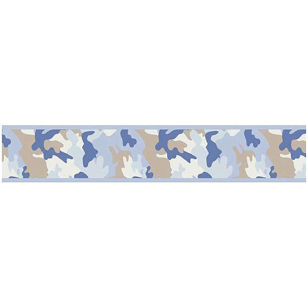 Camo Blue Wallpaper Border by Sweet Jojo Designs 620x620