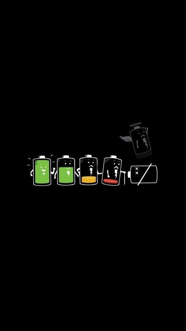 Battery Life Cycle Funny iPhone 8 Wallpapers Download 640x1137