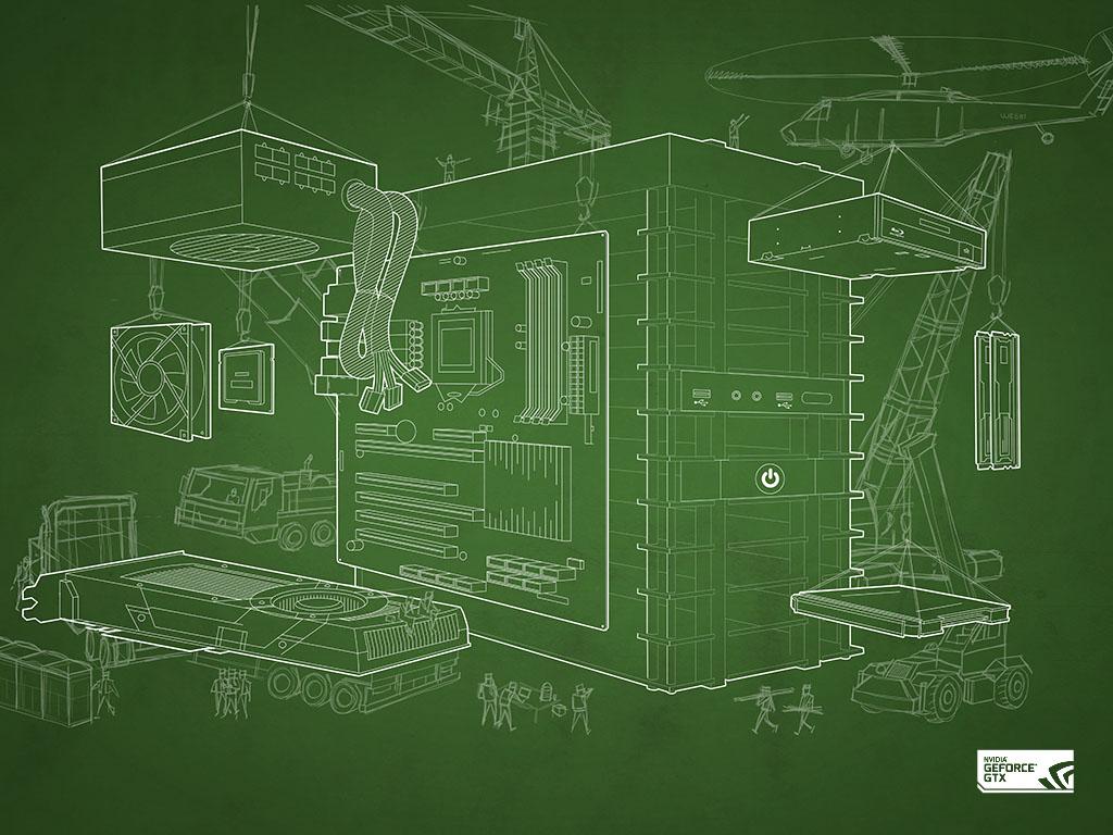 Download The DIY Blueprint Wallpaper GeForce 1024x768