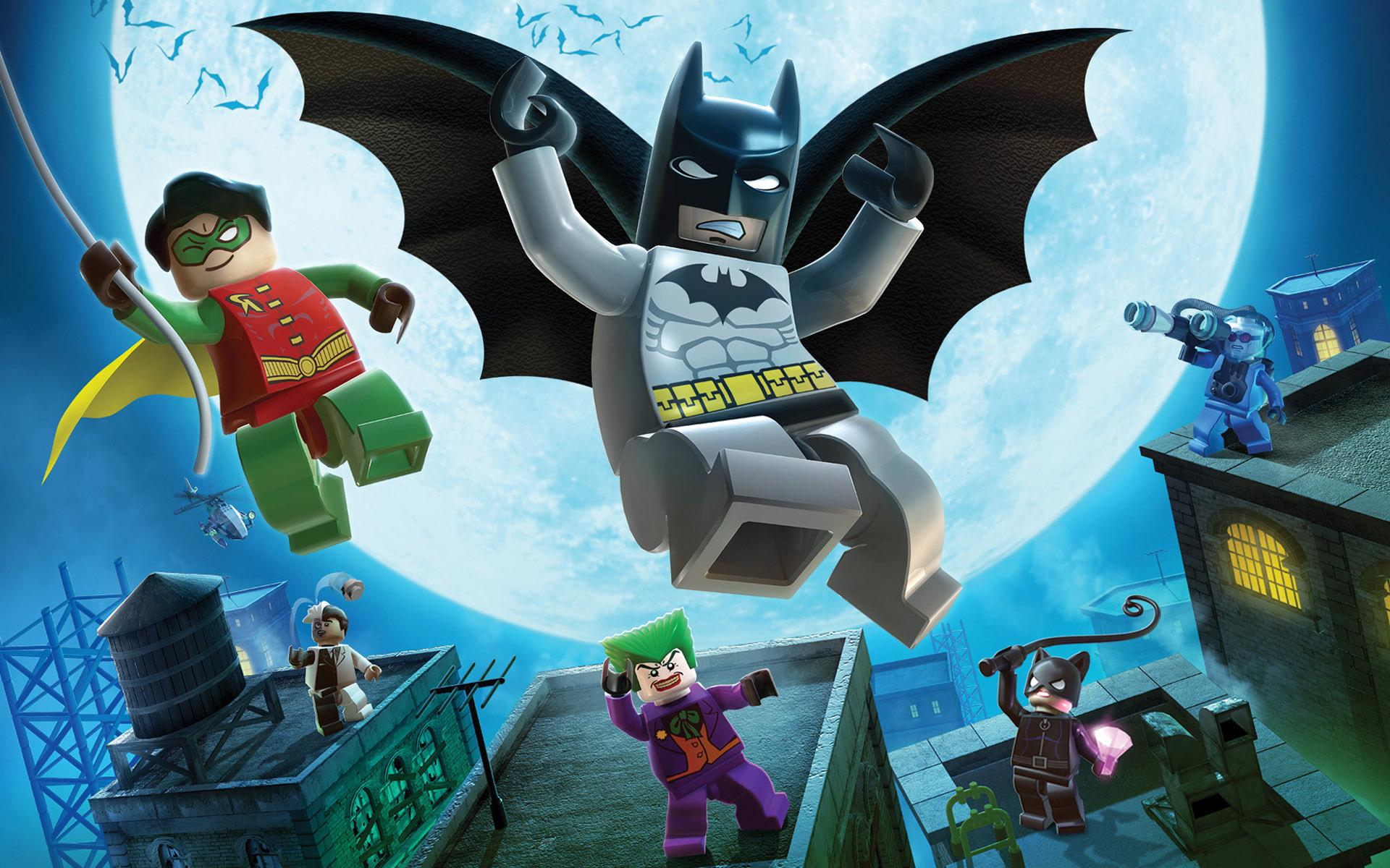 Download Batman and Robin Lego figurines wallpaper 1920x1200