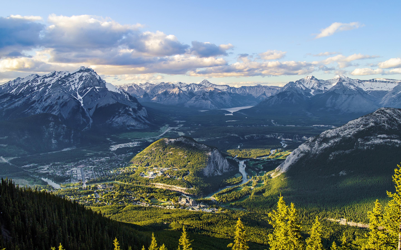 Mountains Canada Scenery Alberta Banff Nature wallpaper background 2880x1800