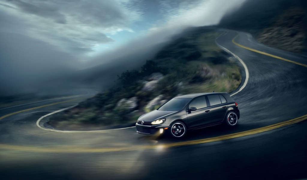 vw golf 6 gti wallpaper volkswagen cars wallpaper 1024 600 widescreen 1024x600
