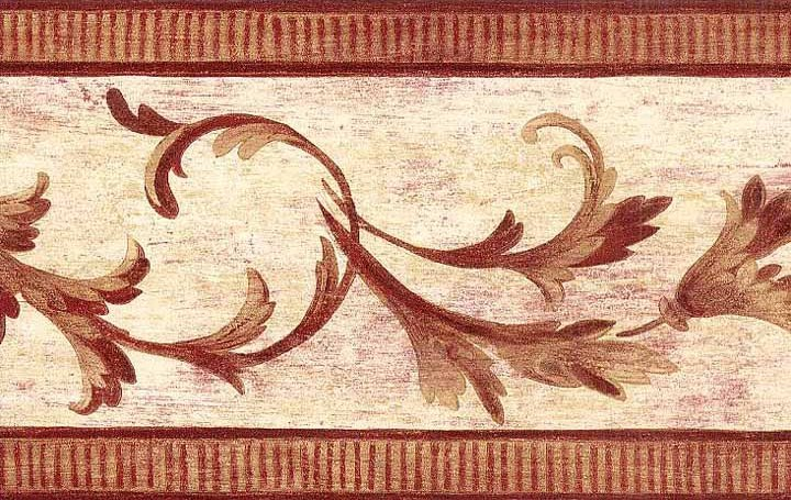 Burgundy Vintage Wallpaper Border   Victorian Vintage Wallpaper 720x455