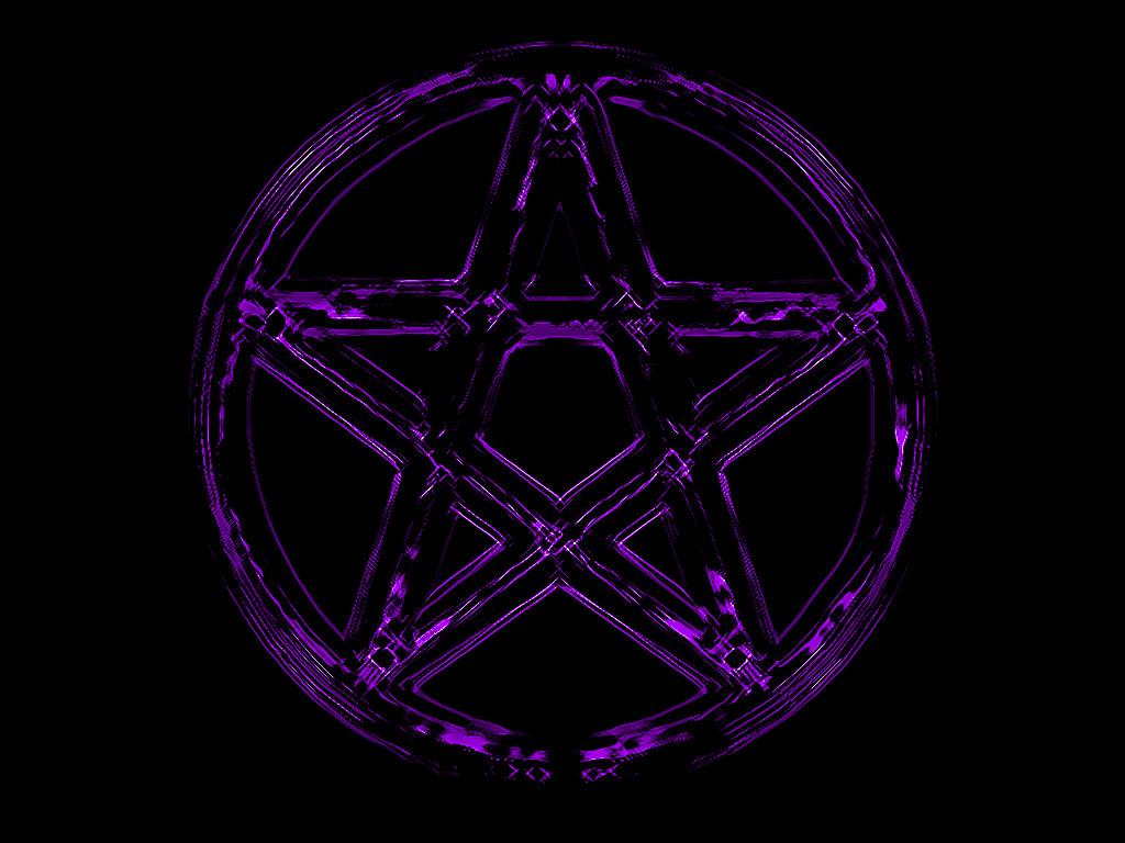 Pentacle Wallpaper Purple pentacle by ulfhednin 1024x768
