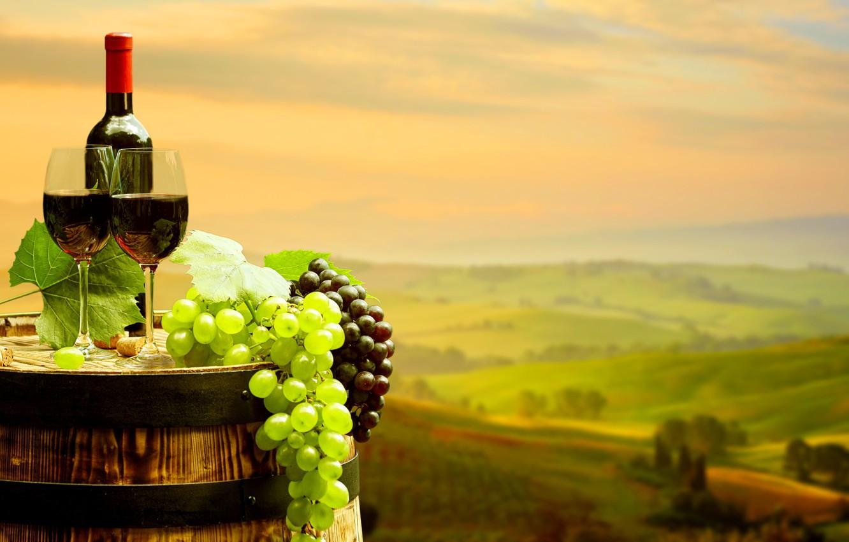 Wallpaper leaves landscape background wine red field bottle 1332x850
