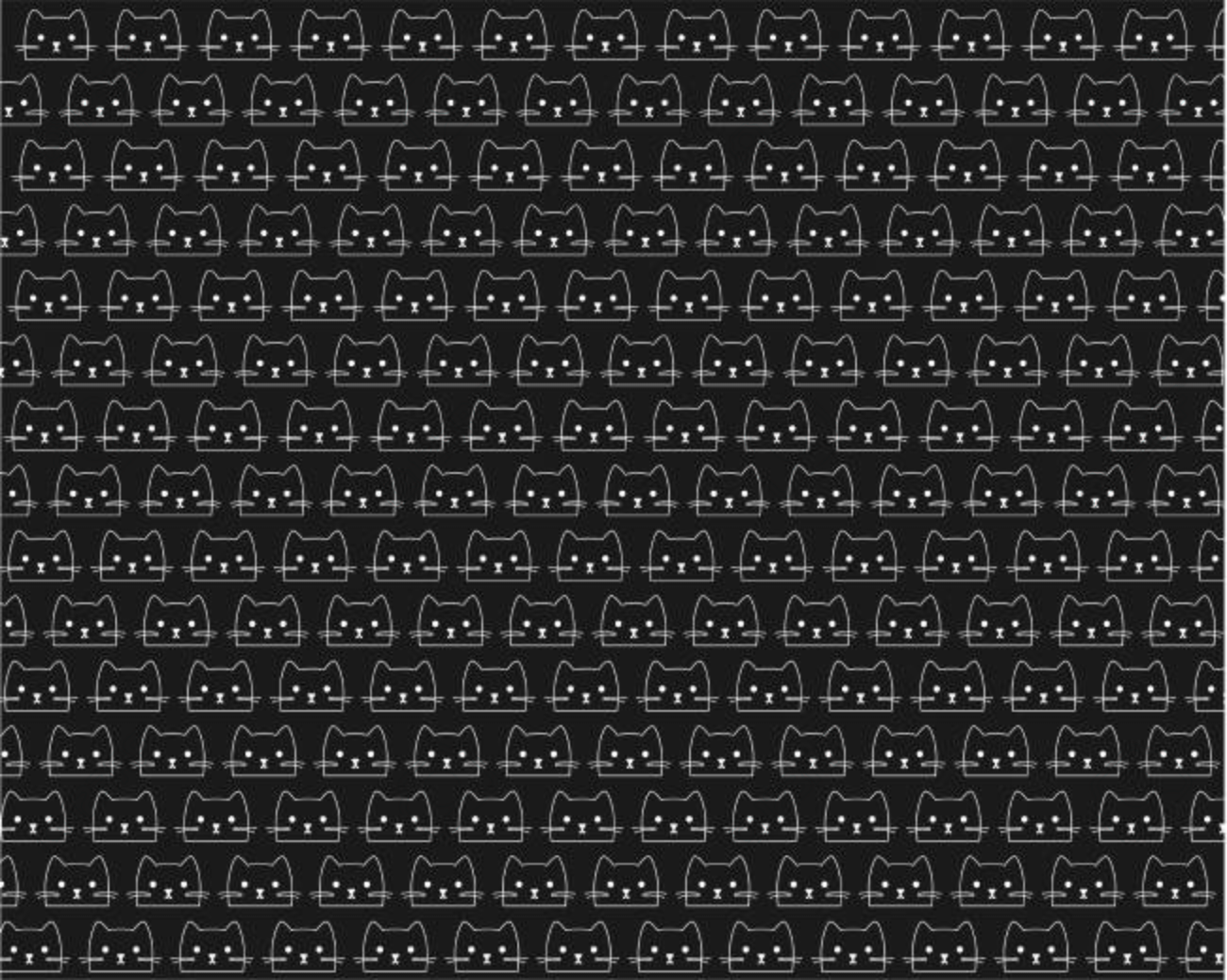 Vector Patron Of Kittens Cats On Black Background Gray Cute 1300x1038