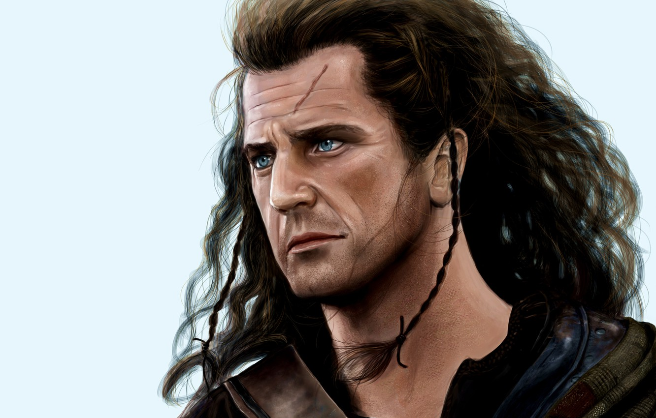 Wallpaper the film male brave heart William Wallace Mel Gibson 1332x850