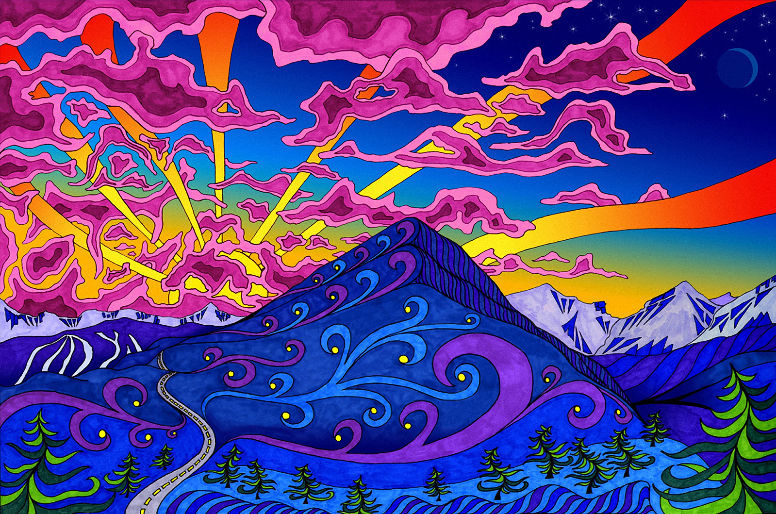 Download Psychedelic Wallpaper Wallpapers HD Quality [1599x1059