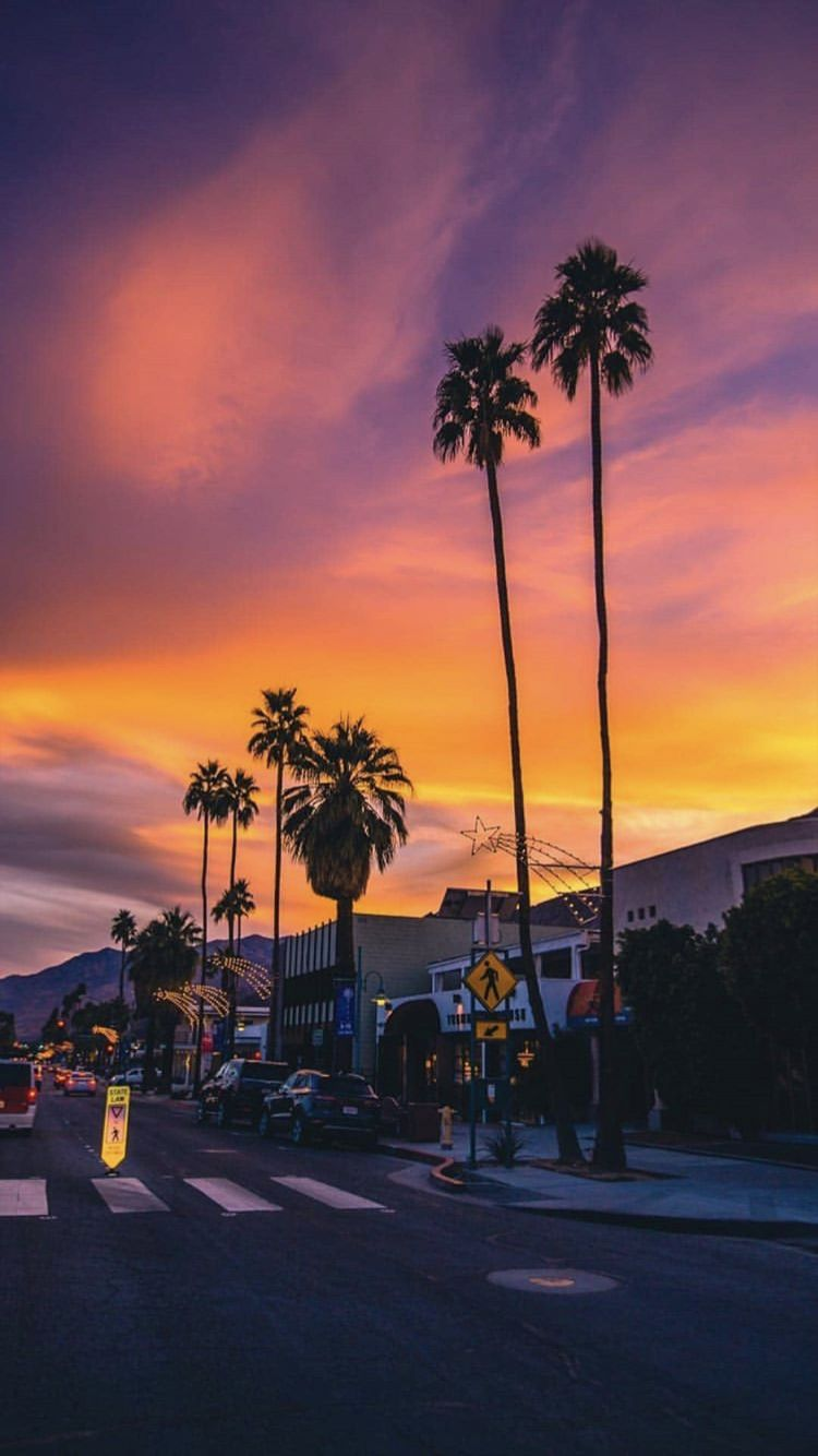 Los Angeles Sunset pictures Sunset wallpaper Sky aesthetic 750x1334