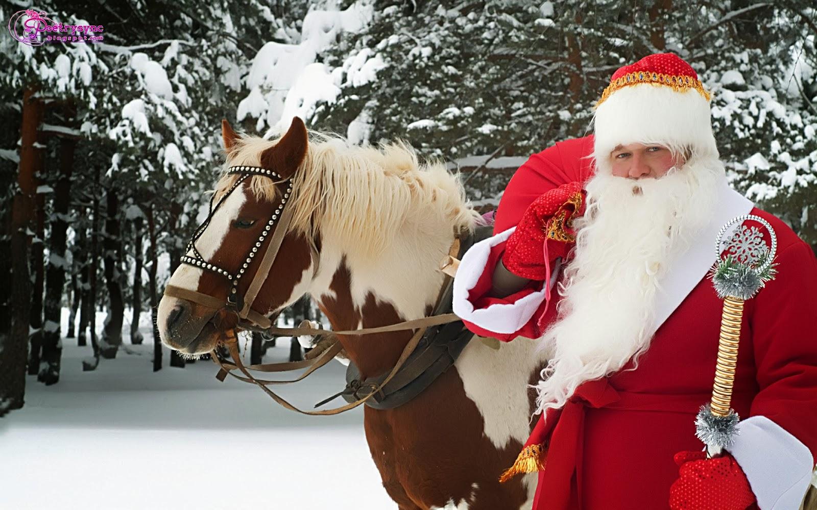christmas horses wallpaper for computer