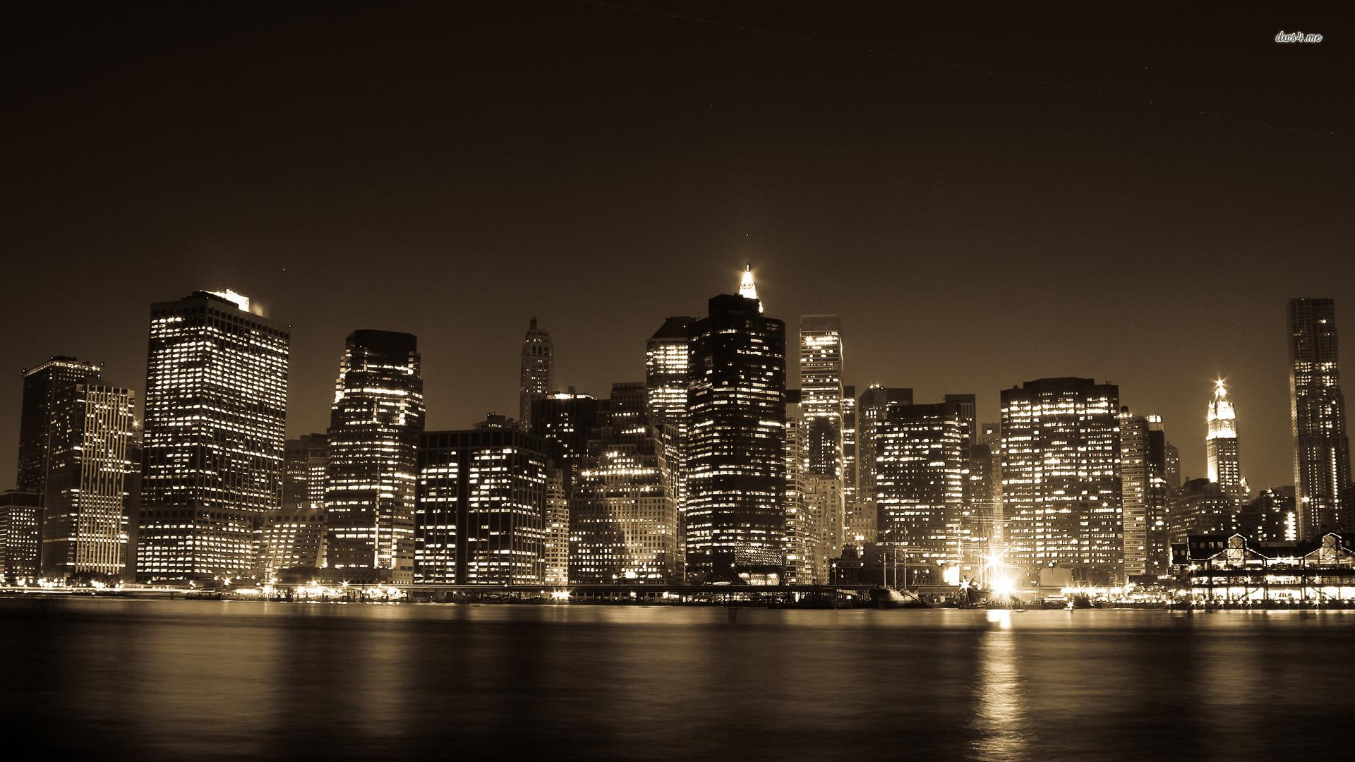 New York City Lights wallpaper 1920x1080