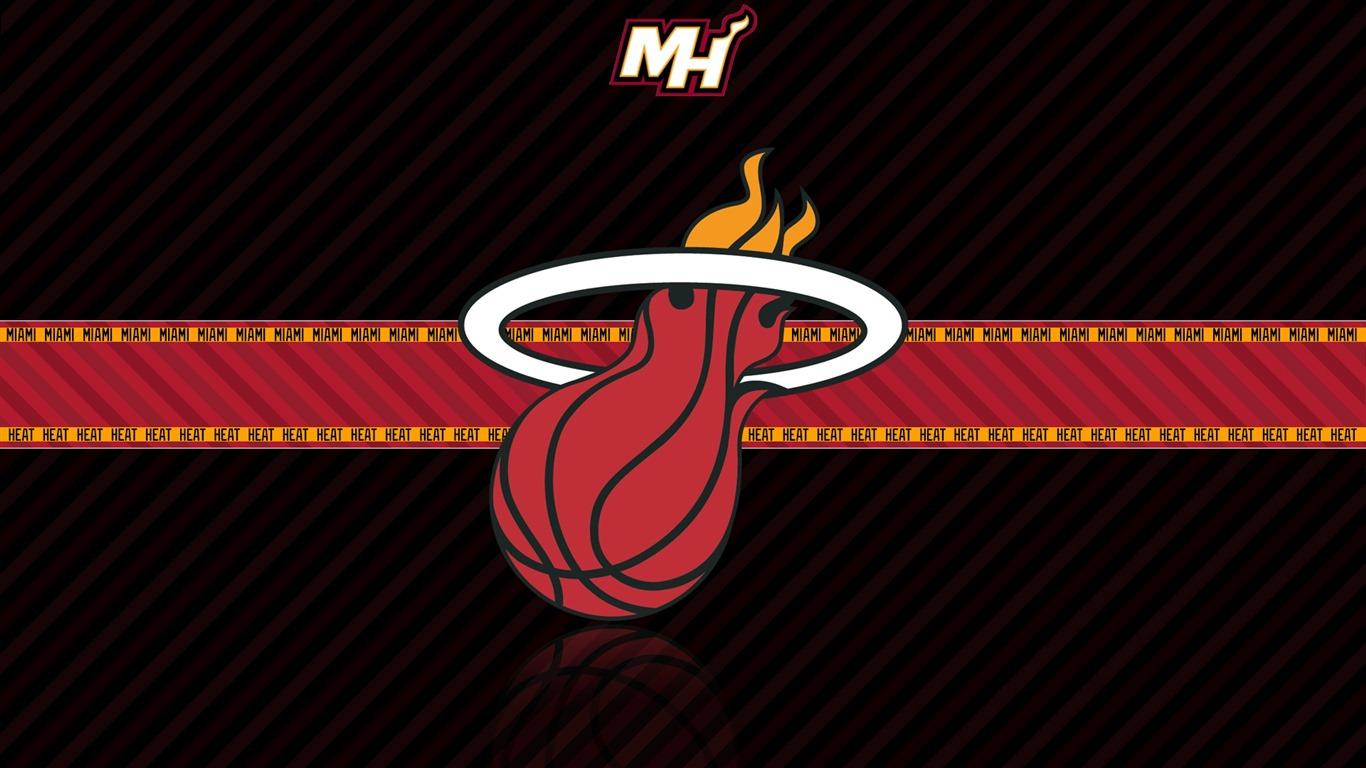 NBA Miami Heat team logo widescreen HD wallpaper   1366x768 Wallpaper 1366x768