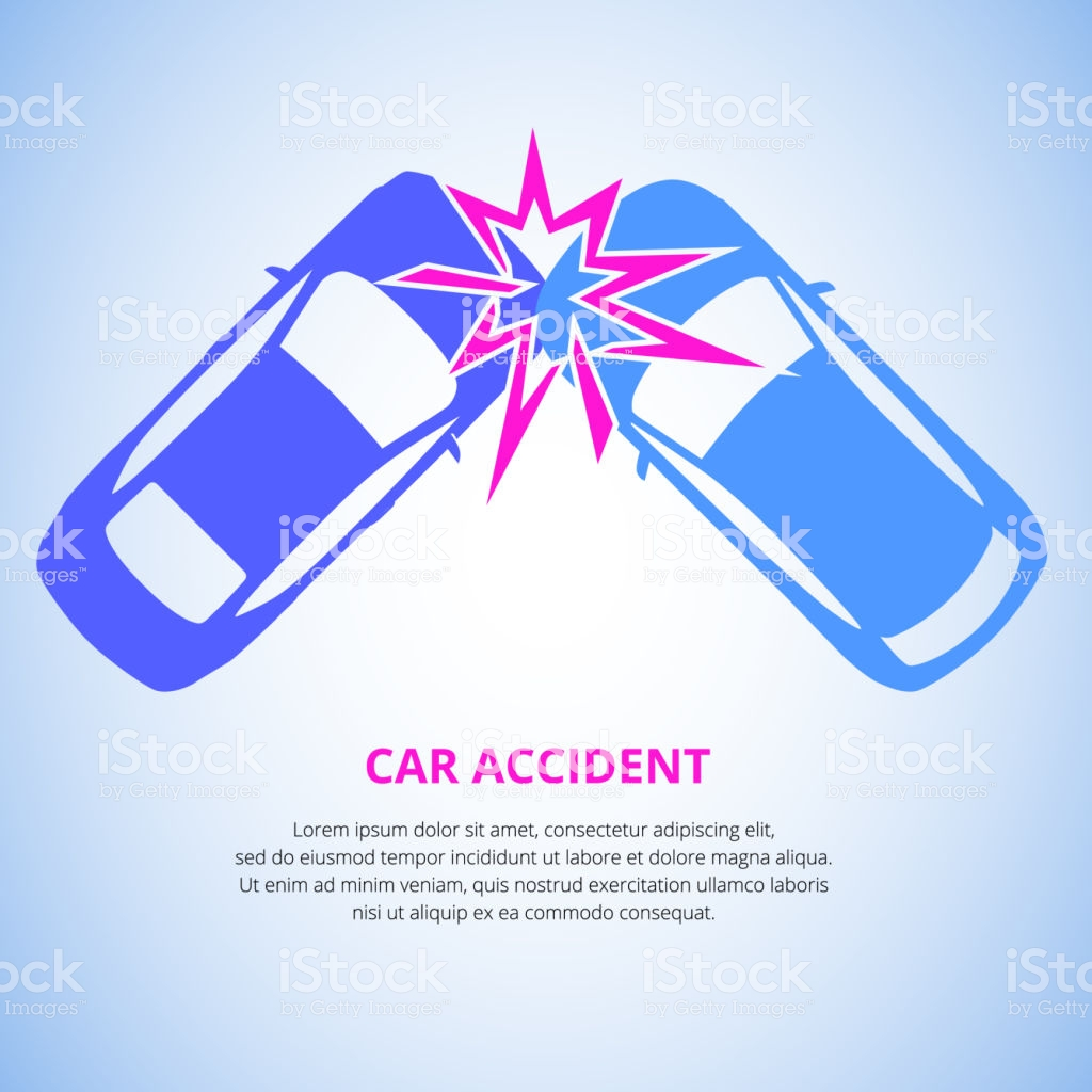 Car Crash Car Accident Top View Isolated On A Light Background Car 1024x1024