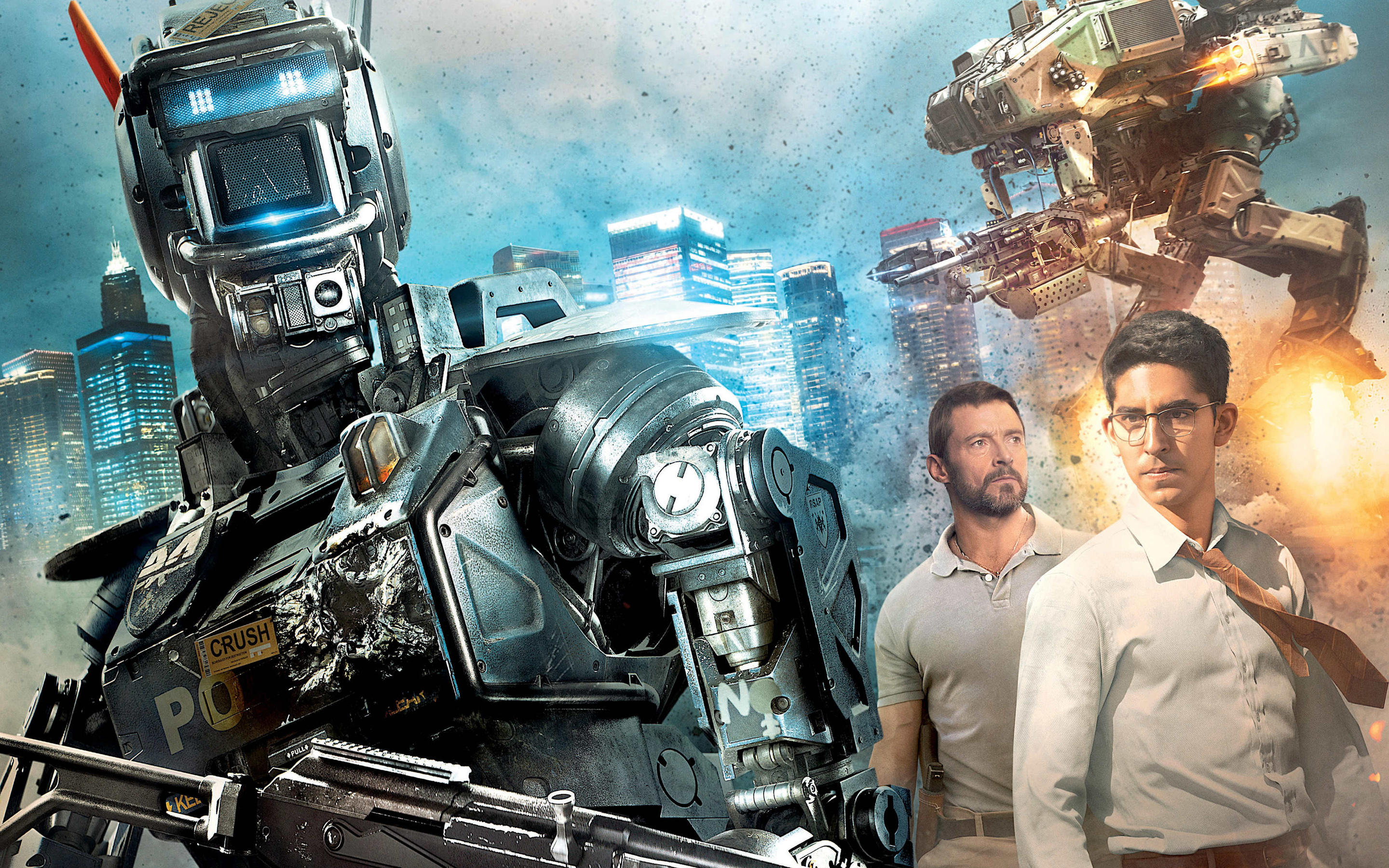 chappie movie   Hugh Jackman Wallpaper 38502276 2880x1800