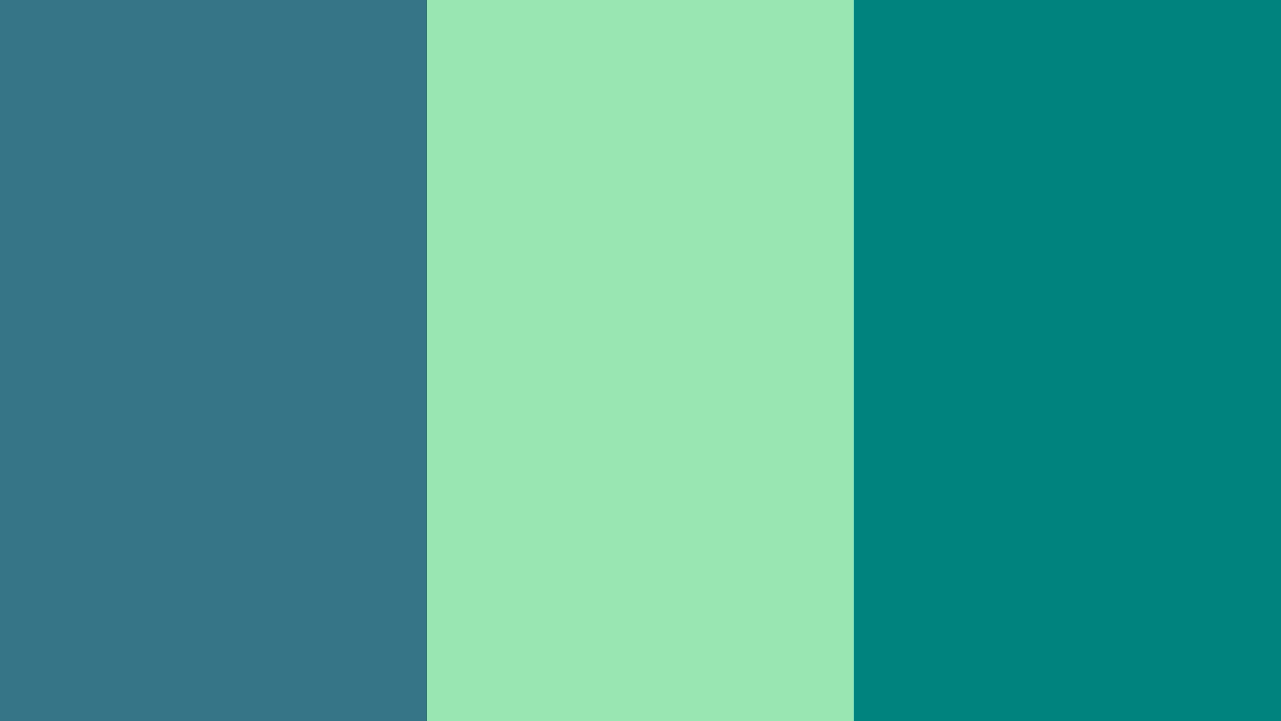2560x1440 Teal Blue Teal Deer and Teal Green Three Color Background 2560x1440