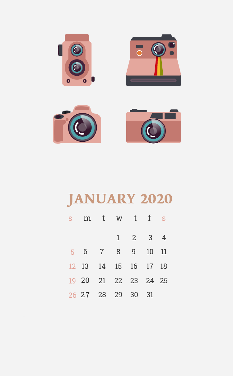 Beautiful January 2020 iPhone Screensaver in 2020 Calendar 749x1207